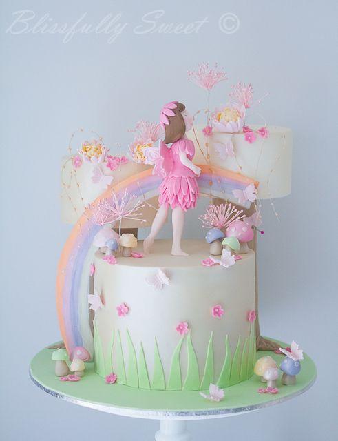 Pastel Rainbow Fairy Cake #pastel #fairy