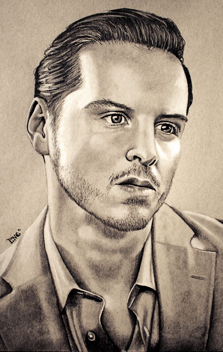 Andrew Scott. White Conté Pastel and Staedtler graphite of various hardnesses on Strathmore Toned Grey paper.