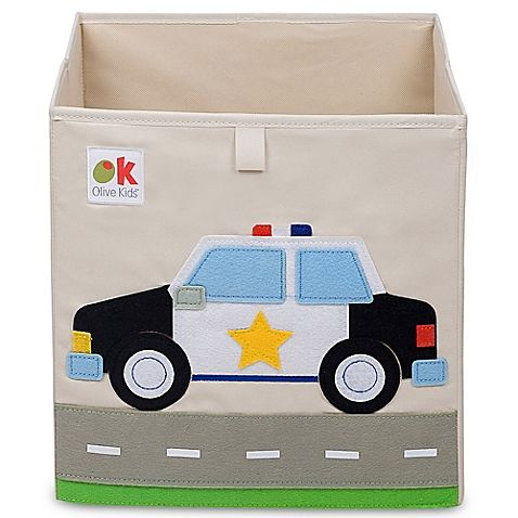 Olive Kids Police Car Storage Cube