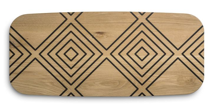 Mid century inspired furniture for modern living The Umuntu range of Oak tables done with a resin inlay pattern.