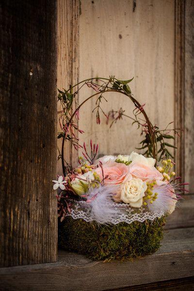 Happy Easter flower basket