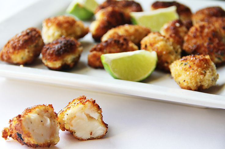 Panko Fried Lobster Bites with Lime... I don't like lobster but I bet this would be good with crab or shrimp.