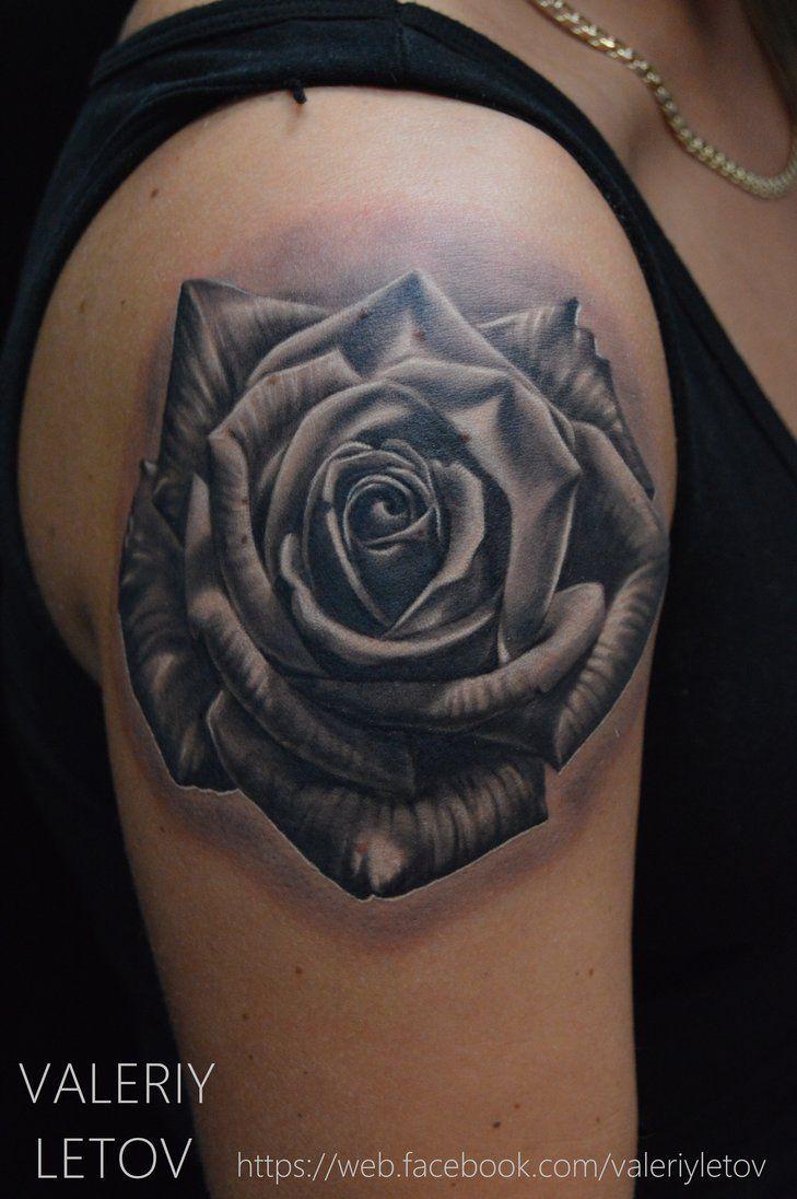 rose tattoo by ValeriyLetov