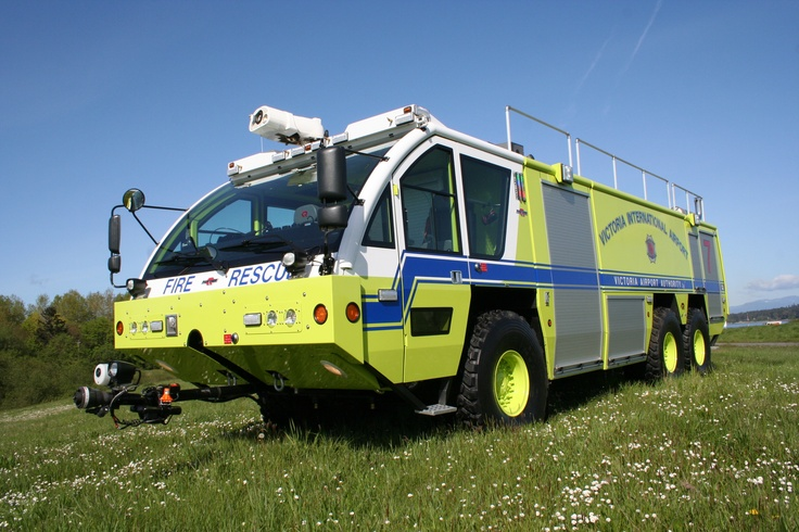Victoria International Airport ARFF Apparatus with Setcom System 1300 split audio intercom / headset system onboard.