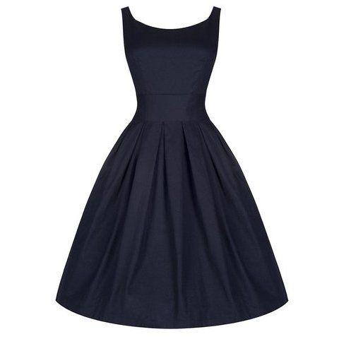 Lindy Bop 'Lana' Millésime Cinquantaines Bleu Minuit Robe De Soirée: Amazon.fr: Vêtements et accessoires
