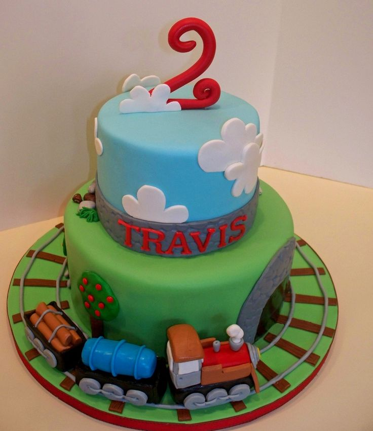 Images Of Train Birthday Cakes : Train Cake   Children s Birthday Cakes Things for Kyle ...