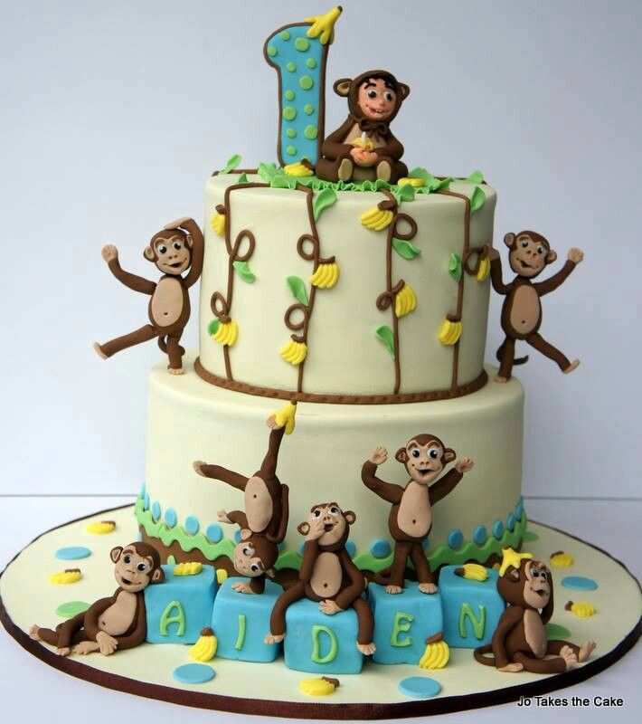 Monkey cake - aapjes taart