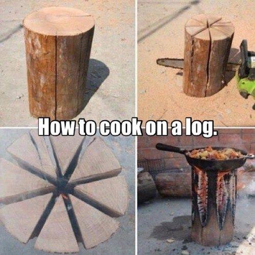 Cocinar a la leña.