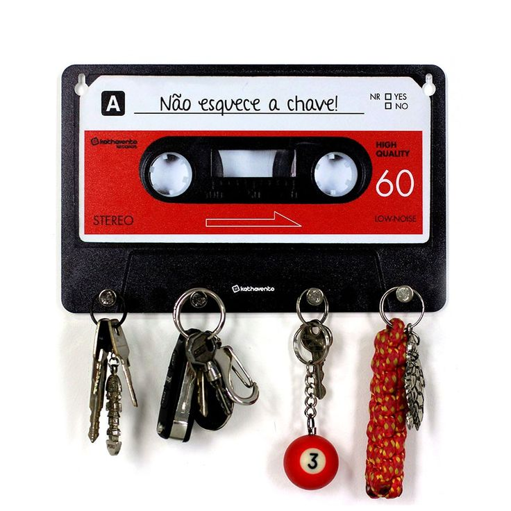 Porta-Chaves Fita Cassete - Vermelho | Fábrica9