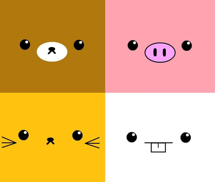 Kawaii Animal Faces :D by ~YuyiSushi on deviantART