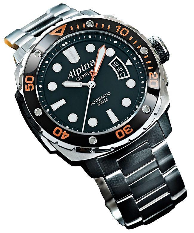 Часы Alpina Extreme Diver 300 Orange - Профессиональные часы для дайвинга | LuxuriousWatches.ru