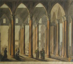 Joseph's Hall in the Castle of Cairo by Thomas Milton after Luigi Mayer