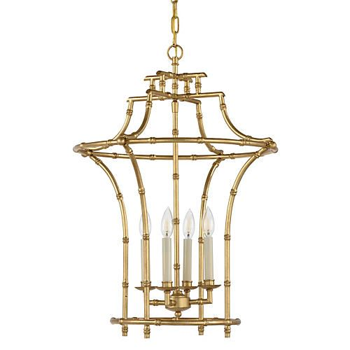 168 best lighting images on pinterest chandeliers chandelier for a hint of worldly flair hang this chinoiserie style chandelier above an entryway or dining space crafted of iron it boasts pagoda style framework mozeypictures Gallery