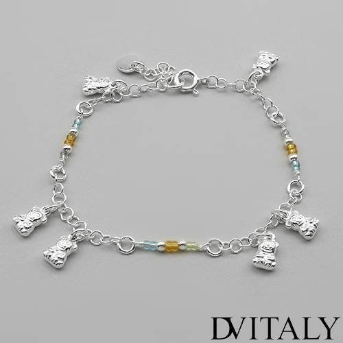 DV ITALY Stylish Bracelet With Genuine Glass beads Well Made in 925 Sterling silver Length 7in DV ITALY. $24.00. Save 73%!