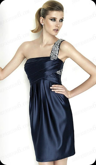http://www.shefashion6.com  Item 2012SP0018   2012 One Shoulder Knee Length Satin Party Dress; Real top fabric, competitive price!!!