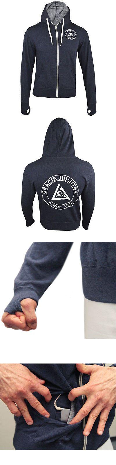 Hoodies and Sweatshirts 179770: Gracie Jiu-Jitsu Academy Summer Zip-Up Hoodie - Terry Blue -> BUY IT NOW ONLY: $49.95 on eBay!