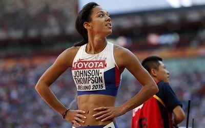 Scarica sfondi katarina johnson-thompson, atleta britannico, tutto