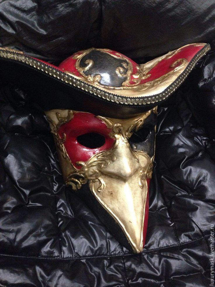 Купить Венецианская карнавальная маска Bauta Folletii - комбинированный, карнавальная маска, венеция, карнавал