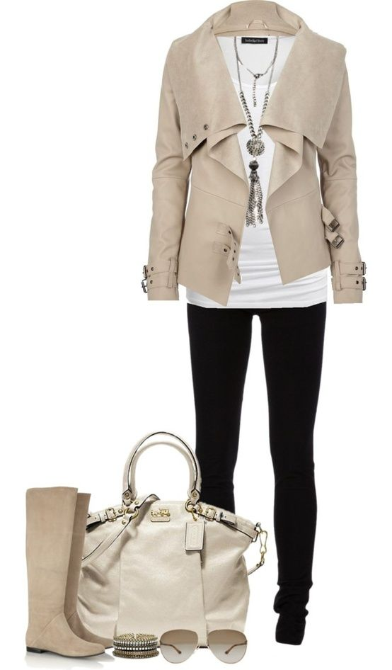 how to wear a cream leather jacket