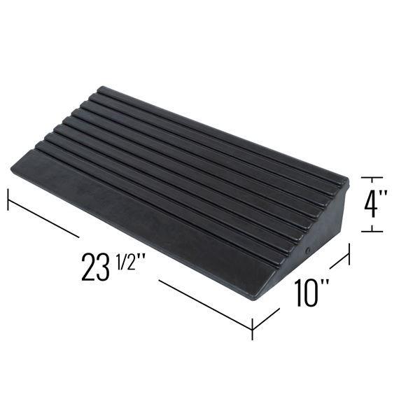 Rubber modular curb ramp dimensions