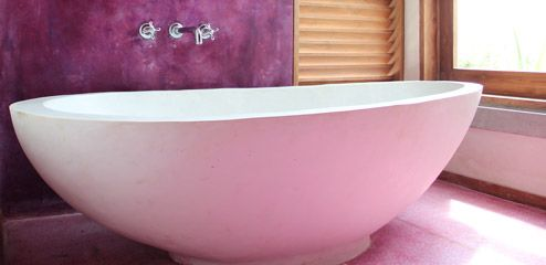 Bathtub in room at UTMT - Underneath The Mango Tree Spa & Beach Hotel Resort Sri Lanka