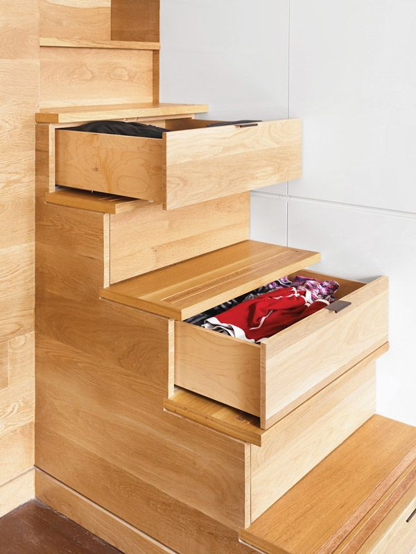 small apartment storage stairs - smart!