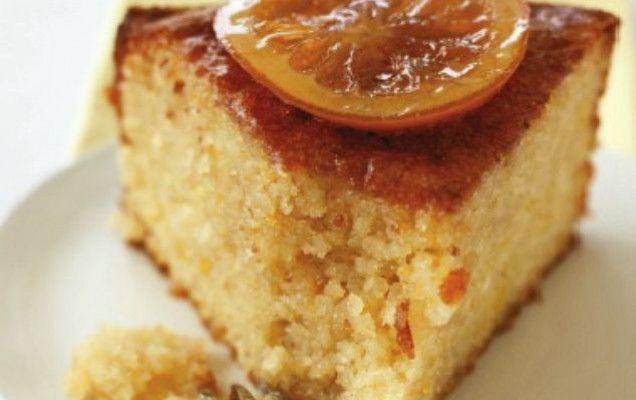 Σιροπιαστό γλυκό αμυγδάλου-λεμονιού