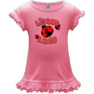 Little Lady Bug A-Line Toddler Dress - Bubblegum Pink