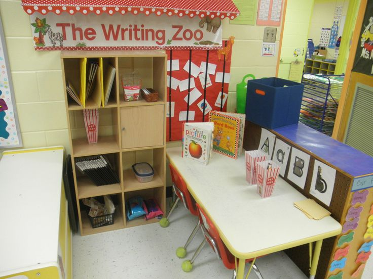 Classroom Writing Ideas : Our vpk writing center we use zoophonics so i went with