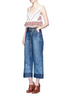TORTOISEShadow hem cropped wide leg jeans