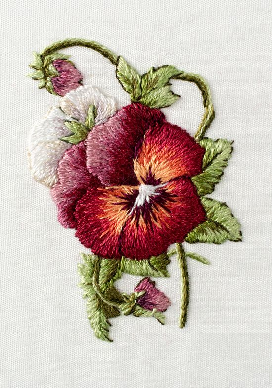 """From Trish Burr's Miniature Needle Painting book. Finished size: 1.5""""w x 2.25""""h."""