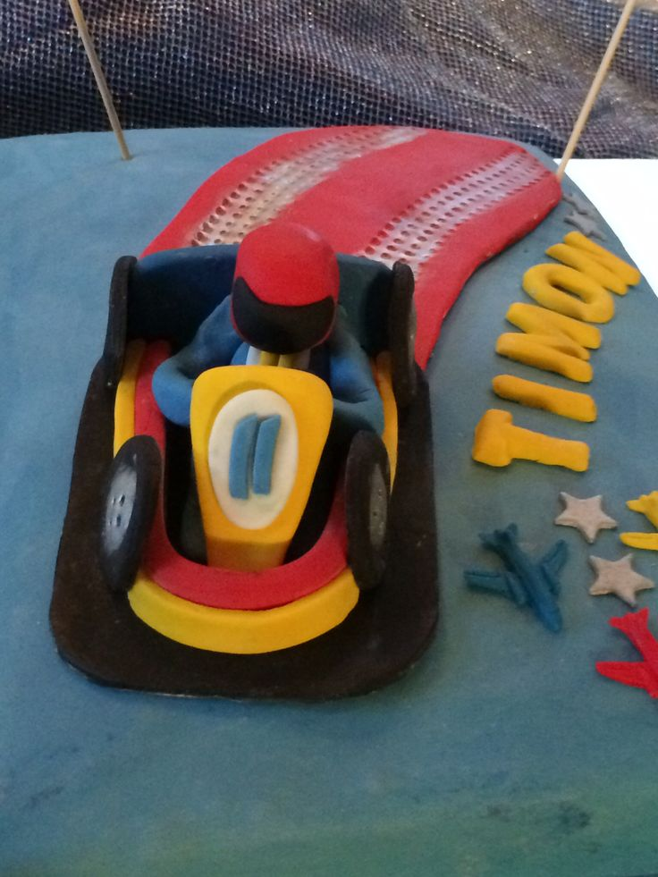 Go-kart birthday cake