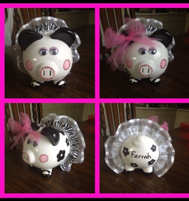 17 Best Images About Hand Painted Piggy Banks On Pinterest