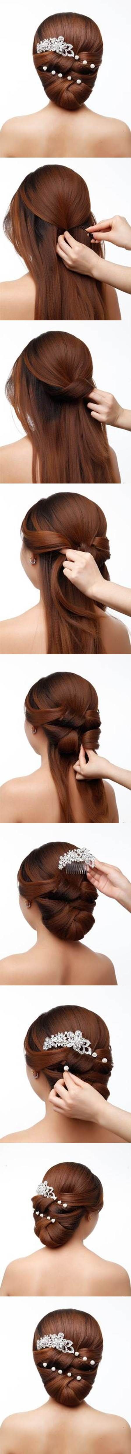 DIY Elegant Bridal Hairstyle 2