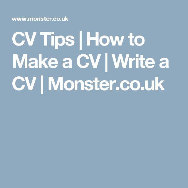 CV Tips | How to Make a CV | Write a CV | Monster.co.uk