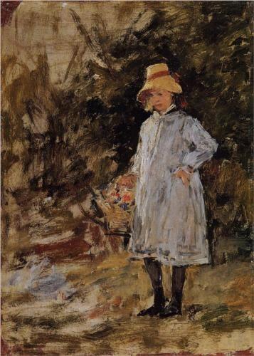 Portrait of a Little Girl - Eugene Boudin