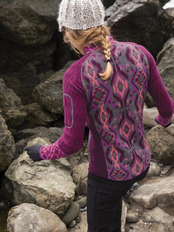Super Power 1/4 Zip Sweater - Ikat Print $99