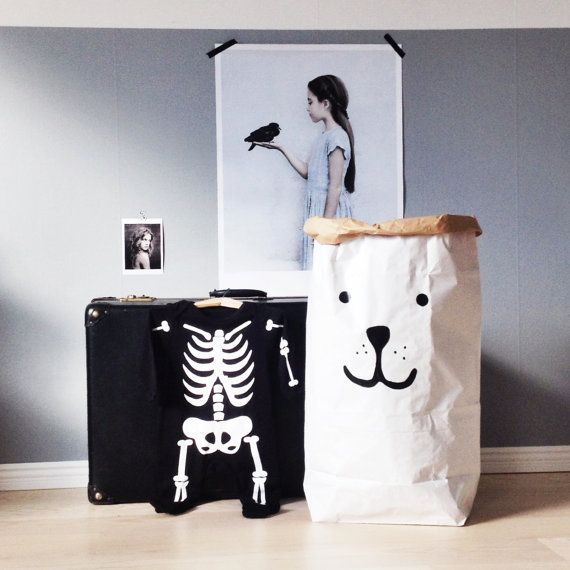 Bear Paper Bag Storage Of Toys Books Or Teddy Bears Kids Interior