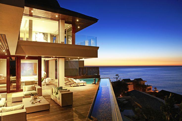 Ellerman House #Villa One deck and Aqua Room overlooking the Atlantic Ocean #Luxury #Travel #VillaOne