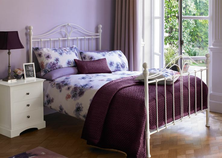 17 best images about purple and silver bedroom on for Purple and silver bedroom designs