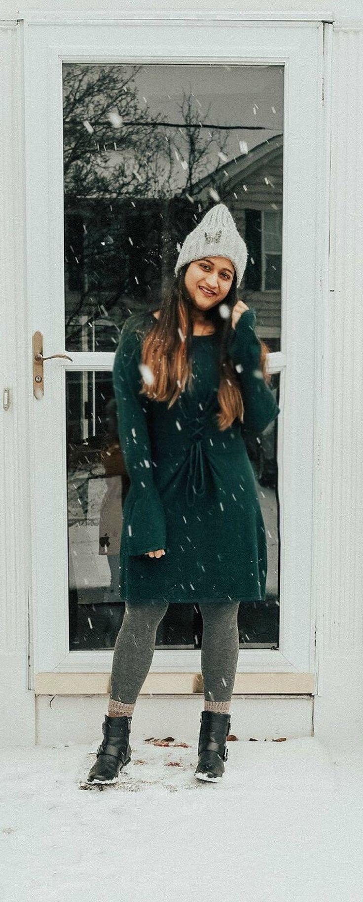 Corset Waist Sweater Dress | dreamingloud.com - ----------------------------------------------- Wool camel trench corset, bell sleeves sweater dress, corset waist, winter trends 2017-2018, first snow ball, embellished beanie, Aetrex moto boots