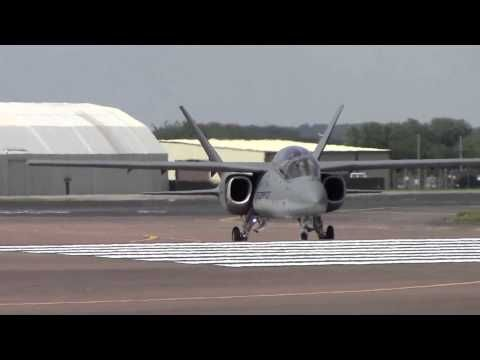 RIAT 2014 Textron AirLand Scorpion Arrival and Departure