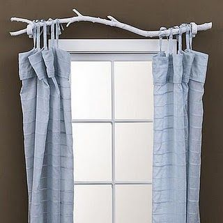 Awesome Curtain Rod For A Cabin Or Rustic Theme I Suppose You D Just