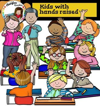 *50% off for the first 48 hours!*Kids with hands raised clip art set contains 20 image files, which includes 10 color images and 10 black and white images in png.The set includes: Boy raising hand1 Boy raising hand2Boy raising hand3Girl raising hand1 Girl raising hand2Girl raising hand to answer question Kid with raised hand1Kid with raised hand2Teacher pointing to students with arms raised1Teacher pointing to students with arms raised2This clipart license allows for personal, educational…