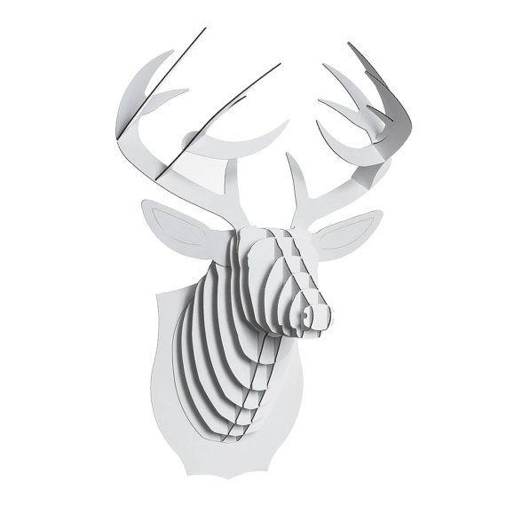 Buck Jr Cardboard Deer Bust Medium Brown or by CardboardSafari