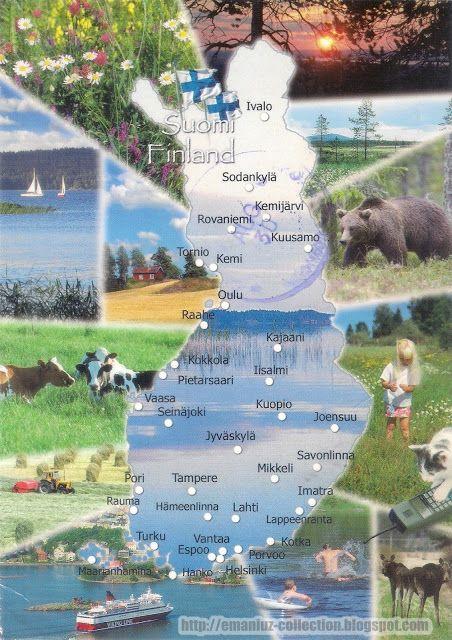 Mapcard of Finland (Suomi)