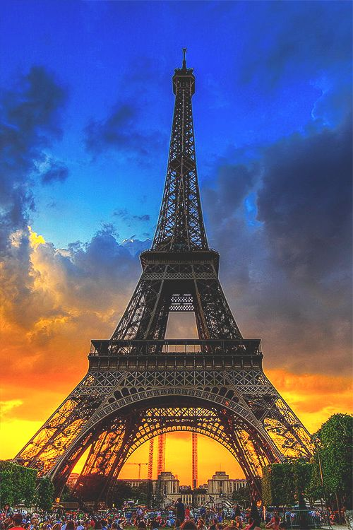 Eiffel Tower Sunset, Paris