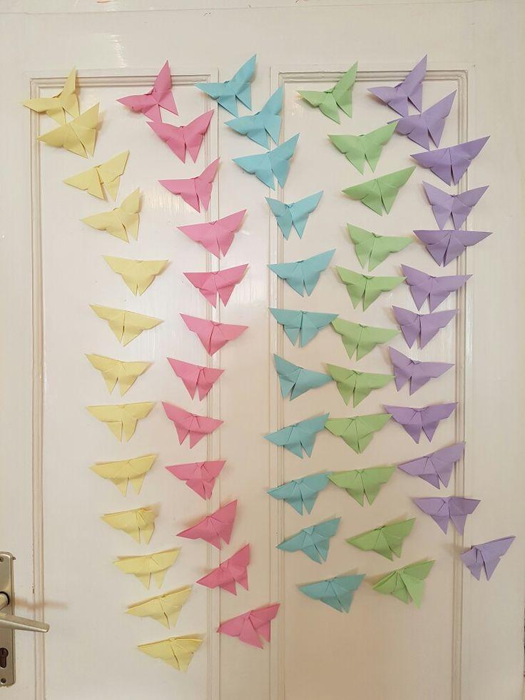 Pillangó és szivárvány :) gyerek kezek munkája