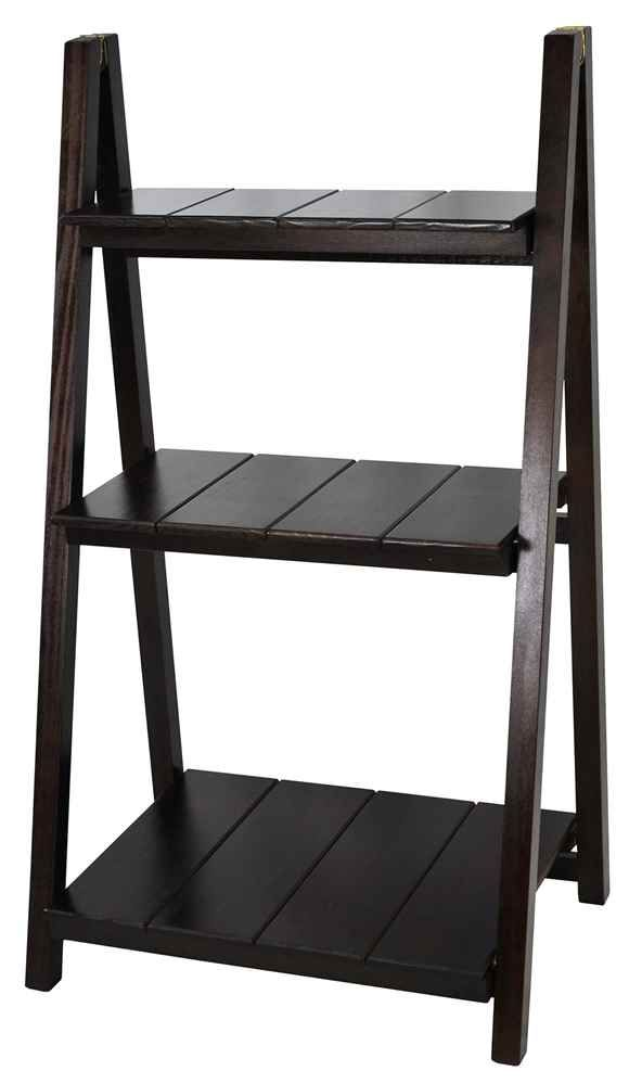 Folding Bookcase In Espresso Finish