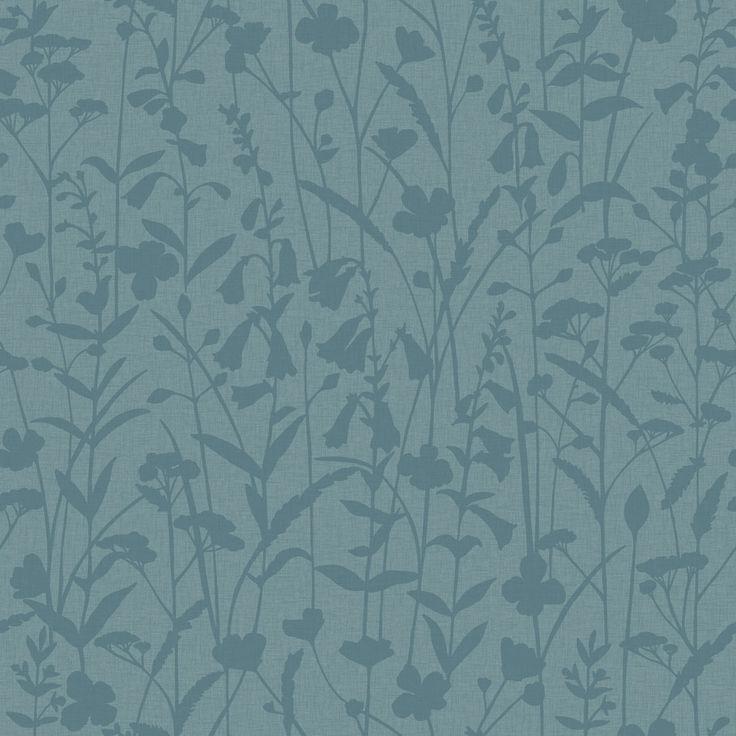 Обои для гостиной комнаты с цветочным рисунком сине-зеленого оттенка